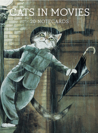 Cats in Movies: Notecards Cover